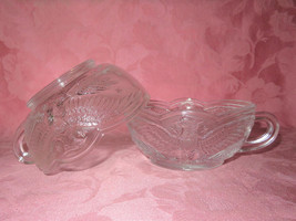 "LE Smith Crystal ""Eagle"" Handled Nappy's - $18.00"