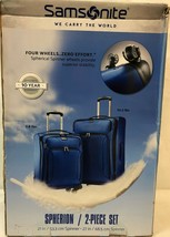 "Samsonite 2-PC 21"" & 27"" Spherion Expandable Spinner Suitcase True Blue image 1"