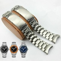 316L 20 22mm Silver Stainless Steel Watch Strap For Omega Seamaster Wristbands - $52.63