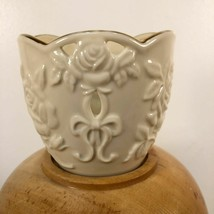 "Lenox Illuminations Rose Votive Candle Holder 3.25"" Ivory Porcelain Gold... - $9.89"
