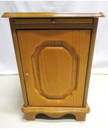 Vtg Golden Oak Lamp End Table or Night Stand Cabinet with Slide Out Drin... - $98.95