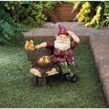Solar Gnome on Welcome Bench - $45.00