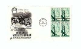 FDC ENVELOPE- VERRAZANO NARROWS BRIDGE OPENING  4BL-1964 ART CRAFT CACHE... - $2.18