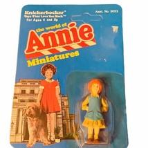 Little Orphan Annie miniature toy figure knickerbocker 1982 moc unpunche... - $24.70