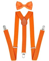 Orange Suspender for Men and Women Y-back Suspenders for Men Clip Suspen... - $8.82