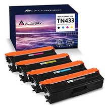 ALLWORK Remanufactured TN-433 Toner Cartridge Replacement for Brother TN433 TN43