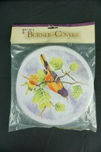 Electric Stove Top Range Round Burner Covers Robin Design Set of 4 New - $19.75
