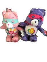 "BRAND NEW Lot Of 2  Care Bears Superheroes Heroes Plush Stuffed  8"" HTF - $21.09"