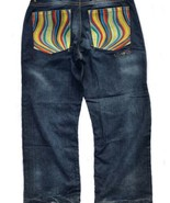 Authentic Australian Coogi Mens Destress Wash Jeans Color Wave Embellish... - $47.51