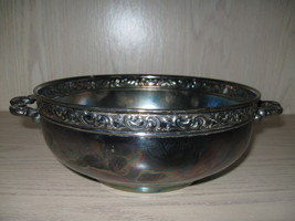 Silver Plate Vegetable Food Bowl Pilgrim Silver Plate Co Trad Mark of Fr... - $12.95