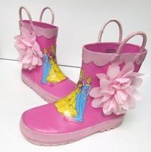 Disney Store Princess Boots Belle Aurora Cinderella Jasmine Rain Multi K... - $24.95