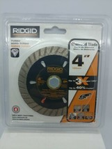 "Ridgid 4"" Turbo Diamond Blade Dry/Wet Cutting -TB40CP Brand New - $17.81"
