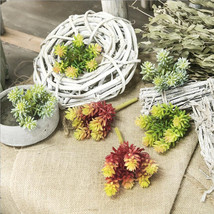 New Real touch Artificial small Succulent plants Plastic Lotus Succulent... - $6.40