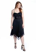 NEW Plus Size Strapless Black Chiffon Cocktail Party Dress Bridesmaid Da... - $24.95