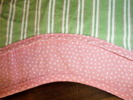 Waverly Valance Pink Polka Dots Green Striped Fabric Classic Home Kids 2... - $22.04
