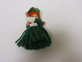 "Costume Jewelry , Christmas Green Doll Pin , 4"" X 3"",Vintage , Please Se... - $15.00"