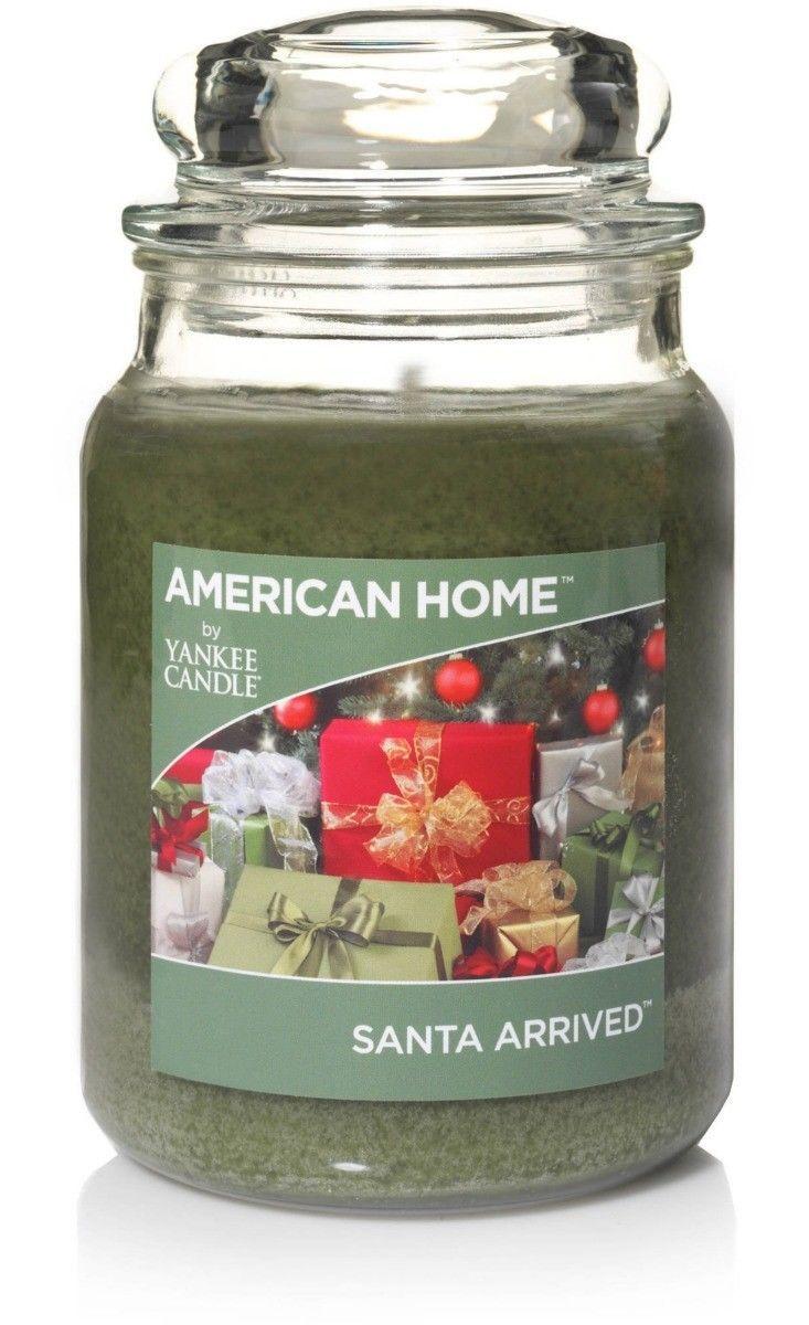 Yankee Candle Large Jar Candle-Santa Arrived American Home Balsam Pine Festive - $26.09