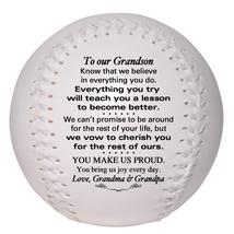 Custom Softball To Our Grandson Wedding, Graduation, Birthday, Christmas Gift - $34.95