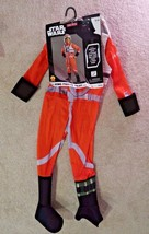 Star Wars X-Wing Fighter Pilot Halloween Costume youth child kids size M... - £15.42 GBP