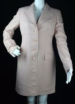 Anne Klein AK womens jacket coat long sleeve lined career business rose ... - $27.13