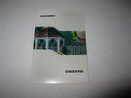 2003 Clue FX Board Game Piece: Gazebo Location Card - $1.00