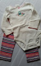 Carter's 2-piece bodysuit and pant set 18 month - $22.00