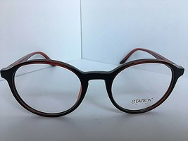 New STARCK Eyes Alain Mikli SH303503 48mm Red Round Eyeglasses Frame  - $129.99