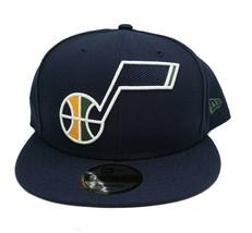 Utah Jazz New Era 9Fifty Navy Blue XL Logo Threads Adjustable Snapback Hat  - $29.69