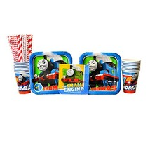 Thomas All Aboard Train Party Supplies Pack for 16 Guests | 24 Paper Str... - $24.24