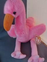 TY Beanie Buddies 1998 Pinky the Flamingo - $9.00