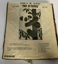 """1978 Vintage Rug Crafters Designs 43-001 """"Pan-Di Panda"""" Burlap 22"""" x 33""""... - $139.93"""