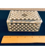 Anchor Hocking Hobnail Moonstone Opalescent Glass Rectangular Box w/ Lid - $25.00
