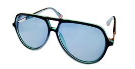 Fila Black Crystal Green Mens Plastic Aviator Sunglass,  Smoke Lens SF93... - $22.49