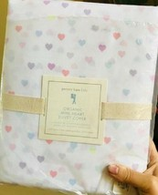 Pottery Barn Kids Mini Heart Duvet Cover Queen Multi Color Pastel No Shams  - $99.00