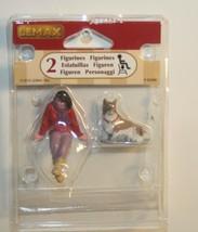 2015 Lemax Figurine A Short Break Set of 2 girl and dog Christmas villag... - $5.49