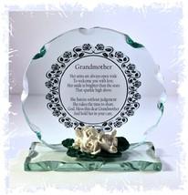 Gift Grandmother Poem Cut Glass Plaque Unusual Keepsake | Cellini Plaque... - $31.60