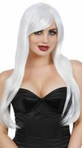 Dreamgirl Weiß Lang Lagen Sexy Perücke Erwachsene Halloween Kostüm Zubeh... - £20.19 GBP