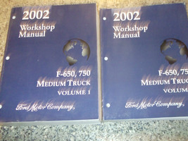 2002 Ford F-650 750 Medium Truck Service Shop Repair Manual Set 02 FACTORY - $12.86