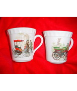 CROWN STAFFORDSHIRE AUTOMOBILE MUGS SET OF 2 BOTH ARE GENTLY USED FREE U... - $14.95