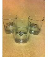 (3)  JACK DANIEL'S GLASSES / TUMBLERS--OLD NO 7--ON THE ROCKS--  -FREE S... - $22.60