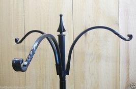 "Erva Wrought Iron 3 Arm Hanger 12"" Reach for Bird Feeders Plants for 1"" Pole - $104.00"