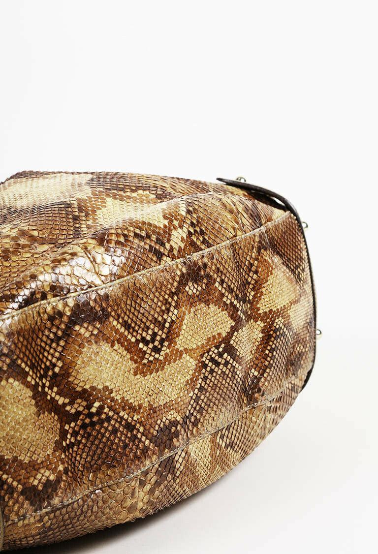 Gucci Pelham Python Shoulder Bag