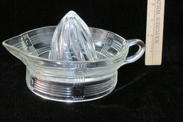 Vintage Clear Glass Reamer Juicer w/ Loop Handle & Spout - $14.84