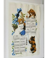 Vtg Kay Dee 1990 Designs Curious Kittens Wall Hanging Calendar 16.5 x 26.5 - $11.75