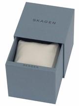 BRAND NEW SKAGEN SKW6065 GRENEN BLACK LEATHER SILVER STAINLESS STEEL MEN... - $148.49