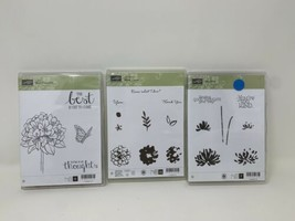Stampin Up! What I Love Best Thoughts Too Kind Photopolymer Stamp Set Lot 3 - $27.71