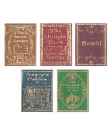 Book Set (5) Children's Classics #3 NI124 A Novel Idea DOLLHOUSE Miniature - $11.83