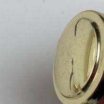 Vintage Knobs Pulls Polished Gold Tone Metal Patina 8 Pc Lot Drawer Cabinet  image 8