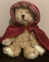 """Vintage Boyds Bears Bailey  8"""" Plush Little Red Riding Hood 1990-1995 - $14.70"""