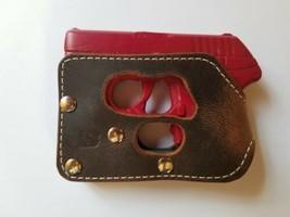 Ruger Lcp with Crimson Trace trigger guard laser BROWN wallet /& pocket holster